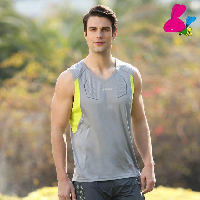 90132b50f7fa0a New arrival Fitness Mens sports Sleeveless Shirt running Vests quick-dry  Tops Tank Top Men Bodybuilding Clothing L363Y