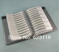 Free Shipping 0603 A Pratical SMD Resistor And Capacitor Sample Book Free Custom LOGO