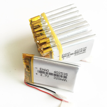 Wholesale 10 pcs 3.7V 320mAh 402535 Lithium Polymer LiPo Rechargeable Battery For Mp3 Mp4 PAD DVD DIY E book bluetooth