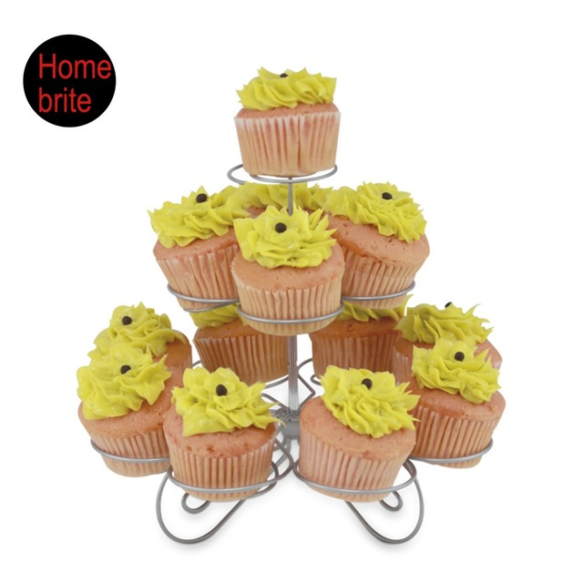 3 Tier cupcake holder,13 Cups Wire Stand,Muffin Tower Wedding ...
