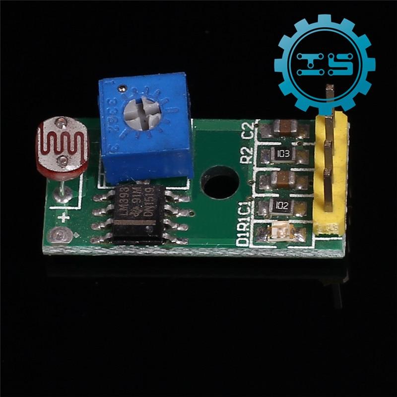 Photoresistor Sensor Module 4-Pin Light Sensor Module 3.3-5V for Arduino Light Detection Sensor Photo Resistor Sensor amy hot dc 12v photoresistor module relay light detection sensor light control switch nice gifts