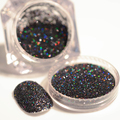 2 g/caja Holográfica Láser Negro Polvo Del Brillo Magnífico Holo polvo del Polvo de Uñas Manicura Del Arte Del Clavo Del Brillo de La Decoración