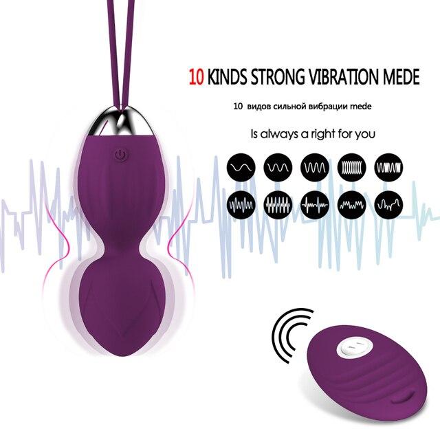 4 pcs Vaginal tighten Exercise Kegel Balls 10 Speed Vibrating eggs Silicone Ben wa ball G Spot Vibrator Erotic sex toy for Women 3