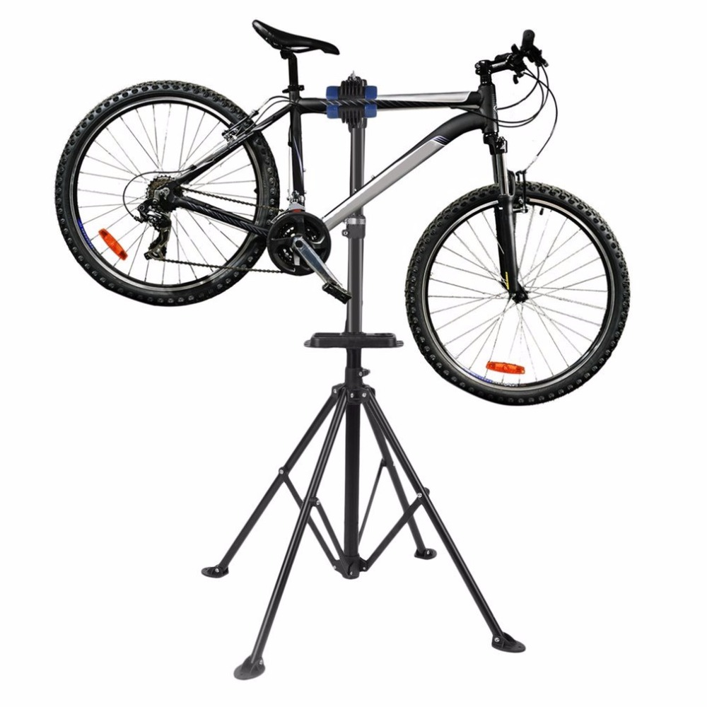 New 1.7m Bike Adjustable Height Kickstand Aluminum Bike Repair Mountain Bicycle Rack Bike Repair Tool Parking Hanger top quality mountain bike repair stand kickstand wings kickstand road bicycle aluminum alloy rack bike repair tool accessories parking