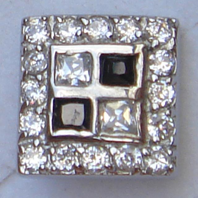 Homens jóias cool men/boy's 2 tom completa pave white & black cz stud brinco do aço inoxidável 316L do punk