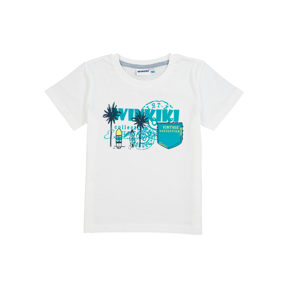 цена T-Shirts Winkiki for boys WB81007 Top Kids T shirt Baby clothing Tops Children clothes