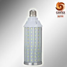 CE ROHS aluminum body AC110V 220V 230V 240V 50/60Hz input 100lm/w E27 70W 80W LED corn bulb replace 250w metal halide lamp