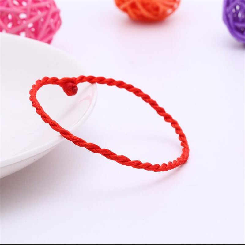 Распродажа 2018 1 шт. модный браслет с красной нитью, счастливый красный зеленый браслет из веревки ручной работы для женщин и мужчин, ювелирная пара