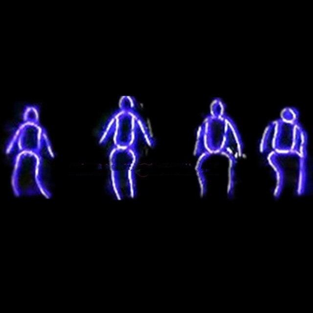Neue Design Led Robot Anzug Kleidung Leuchtenden Neon EL Draht ...