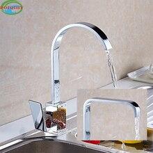 Высокое качество латунь кухонный смеситель хромированной отделкой одно отверстие двухслойные крепление очиститель воды два стиля