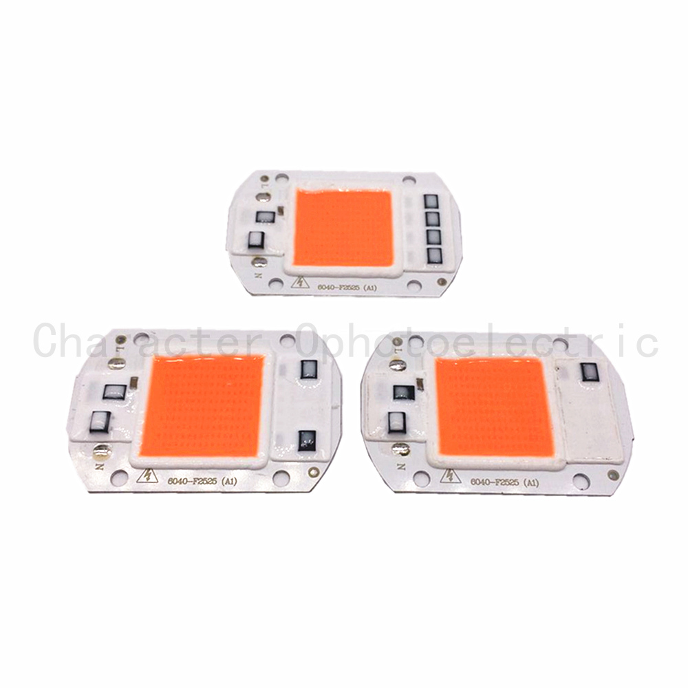 10 PCS AC 110V 220V 20w 30w 50W 380NM-840NM Full Spectrum LED COB Chip, Integrated Smart IC Driver