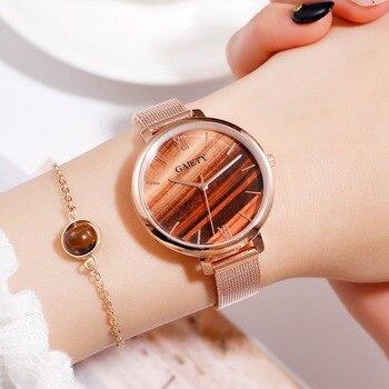 Gaiety Luxury 2 PCS Set Watch Women Rose Gold Water Drill Bracelet Watch Jewelry Ladies Female Hour Casual Quartz Wristwatches 7