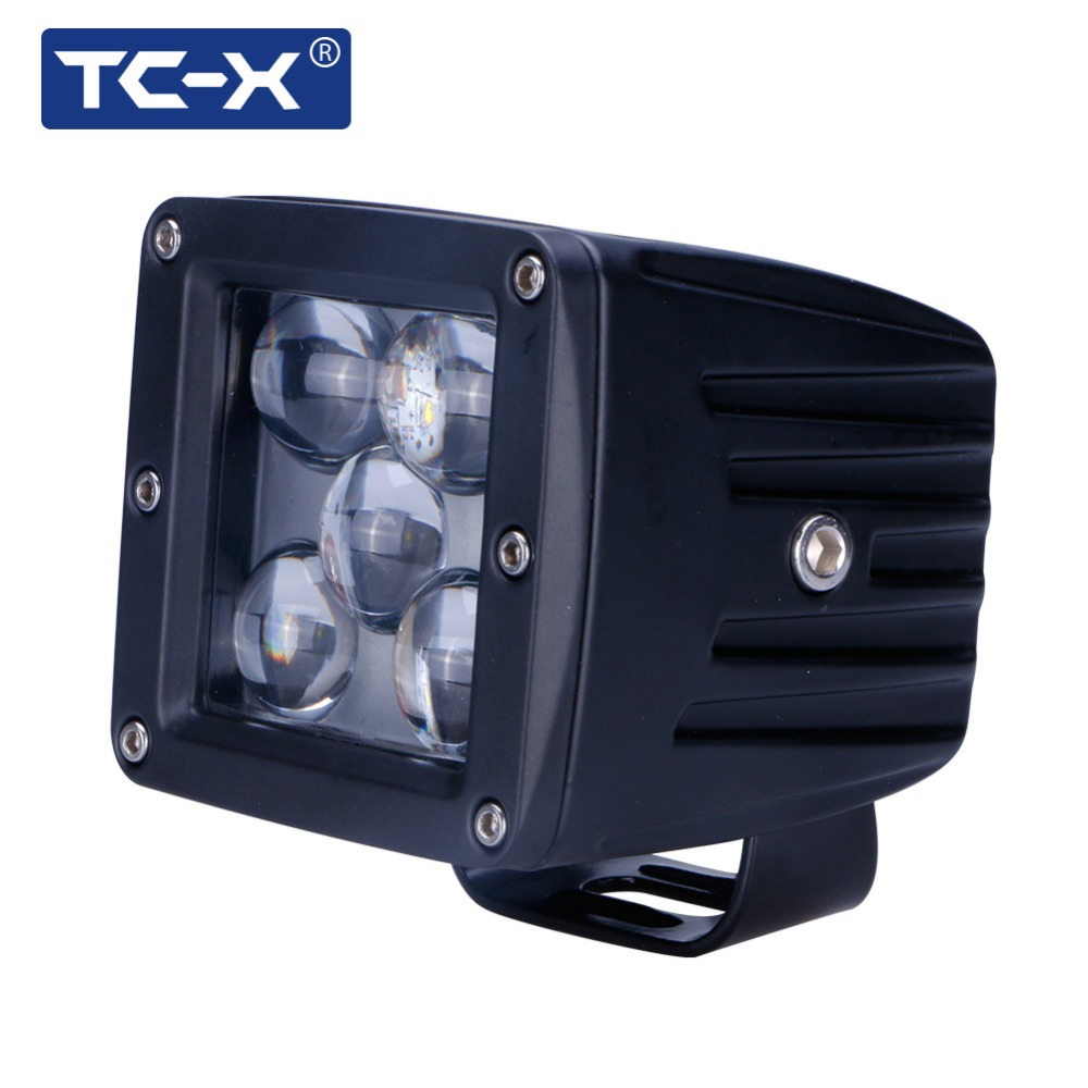 TC-X 5D LED Spot PTF tumanki Light for Auto 6000k Long Distance 12 / 24V Vehicle SUV Motorsykkel Offroads Truck Arbeidslys Ekstern