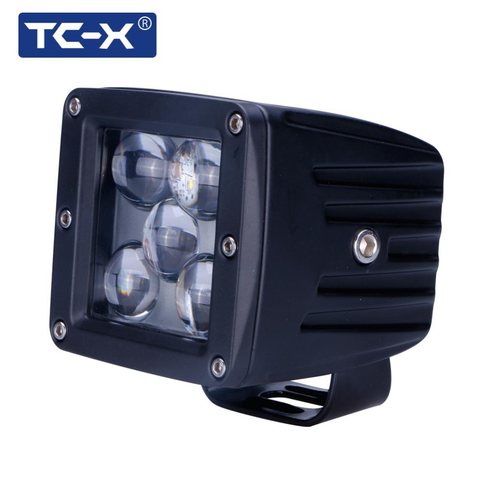 TC-X 5D LED Spot PTF tumanki Light for Auto 6000k Long Distance 12/24V Vehicle SUV Motorcycle Offroads Truck Work Light External