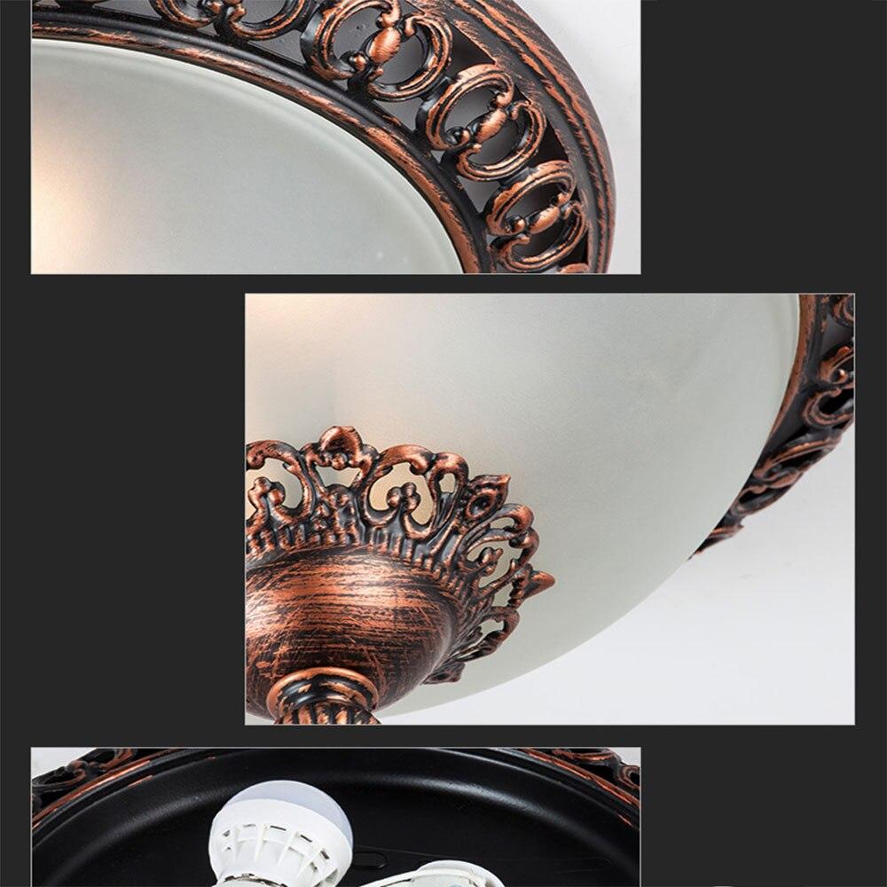 HGhomeart Antiken Eisen Led deckenleuchte Lampe Leuchten ...