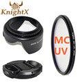 KnightX MC UV Объектив nd Фильтр Аксессуары для NIKON D5100 камера d5200 D5300 d3300 D3200 d3100 d700 52 мм 58 мм 62 мм 67 мм 72 мм 77 мм