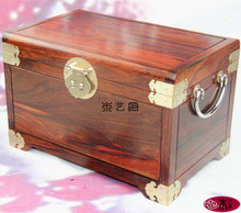 Mahogany red wood jewelry box storage box treasure box wood crafts ornaments creative wedding