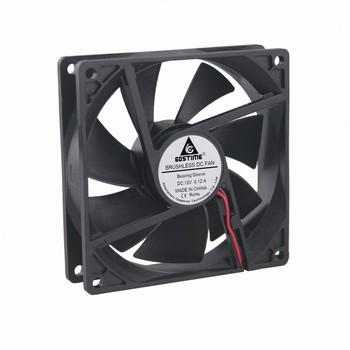 200 Pcs Gdstime 2Pin 12V 92mm 92x92x25mm Axial PC Case Cooler DC Cooling Fan 90mm x 25mm 9cm 9225 90mm*90mm*25mm