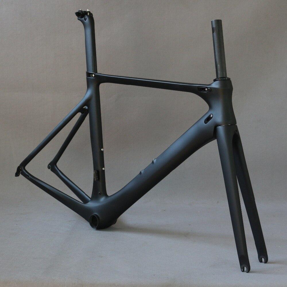 Strada del carbonio telaio della bici della strada di riciclaggio della bicicletta frameset oem di marca telaio di liquidazione telaio forcella reggisella telaio in carbonio