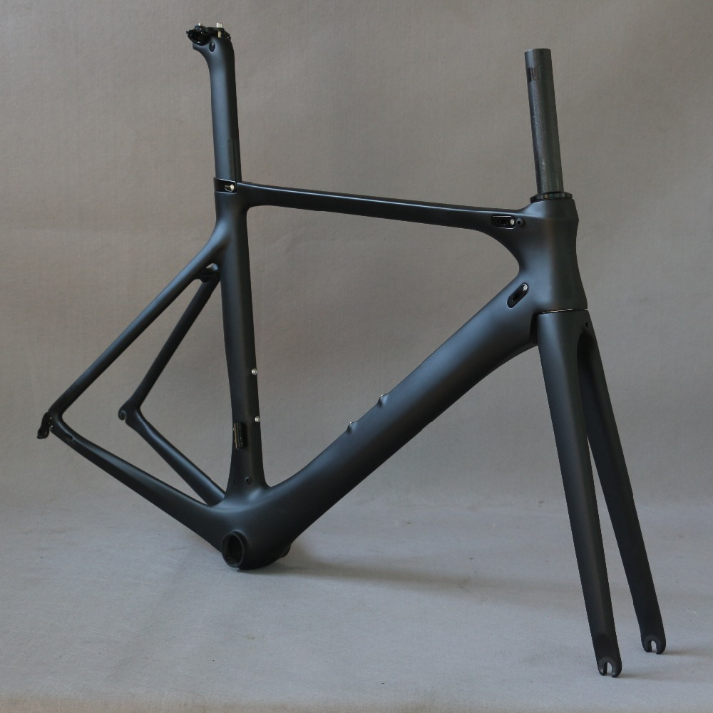 carbon road bike frame road cycling bicycle frameset oem brand frame clearance frame fork seatpost carbon frame carbon road bike frame quick release or thru axle carbon bicycle frameset road bike frame packaging frame fork seatpost hanger