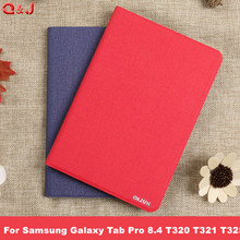 For Samsung Galaxy Tab Pro 8.4 T320 T321 T325 PU Leather Flip Cover Back Cover Soft Luxury Faux High Quality Case цена в Москве и Питере
