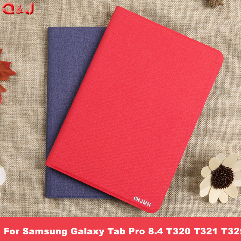 For Samsung Galaxy Tab Pro 8.4 T320 T321 T325 PU Leather Flip Cover Back Cover Soft Luxury Faux High Quality Case image