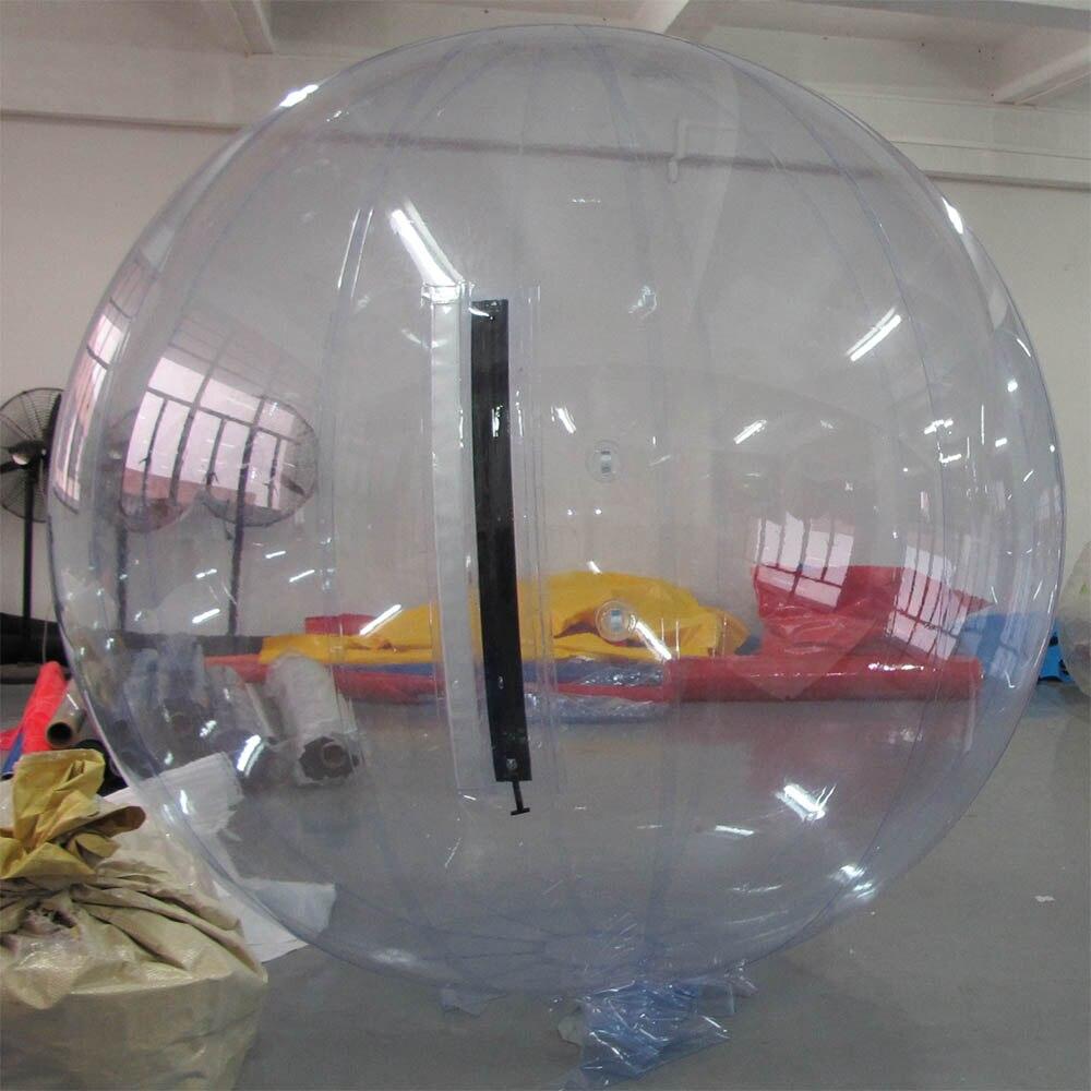 Лидер продаж 2 м надувной мяч ходьбы воды, хорошее качество с TIZIP Германия молния красочные шарик воды - Цвет: Прозрачный