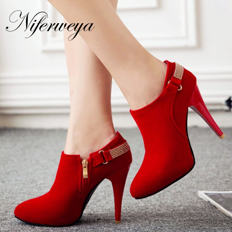 New Big size 31-50 sexy Pointed Toe Thin Heel high heels spring/autumn fashion red women wedding shoes zapatos mujer T2-2 2017 spring autumn women pumps sexy pointed toe suede ladies shoes big size 32 43 slip on thick heel red wedding high heels