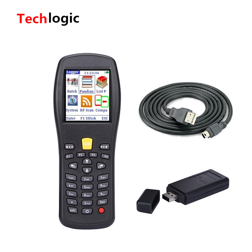 Techlogic X3 PDA Wireless Barcode Scanner Store Warehouse Inventory Scanner Bar Code Gun with Storeage Barcode Reader 433mhz wireless ccd barcode scanner portable barcode reader bar gun with base charger and receiver in one with storage function