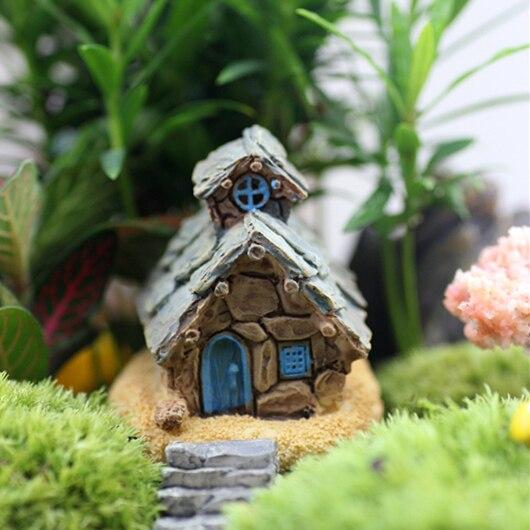 4 conceptions chalet minable maison miniature f e jardin terrarium bonsa maison pour d cor. Black Bedroom Furniture Sets. Home Design Ideas