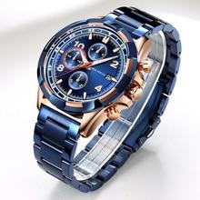 Luxury Brand Quartz Watch Men Waterproof 30M Stainless Steel Wrist Watches Fashion Man Wristwatch Male Clock Relogio Masculino все цены