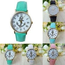 Women Wristwatch Women's Roman Numerals Anchor Faux Leather Analog Quartz Watch,Aug 23