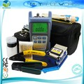Free Shipping Fiber Optic Tool Kit with Optical Power Meter and Visual Fault Locator 1mw and Optical Fiber Cutter