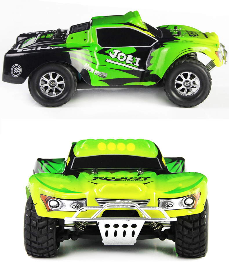 yukala wltoys A969 1/18 4WD Radio Remote Control LED <font><b>Light</b></font> RC <font><b>truck</b></font> 50km/h image