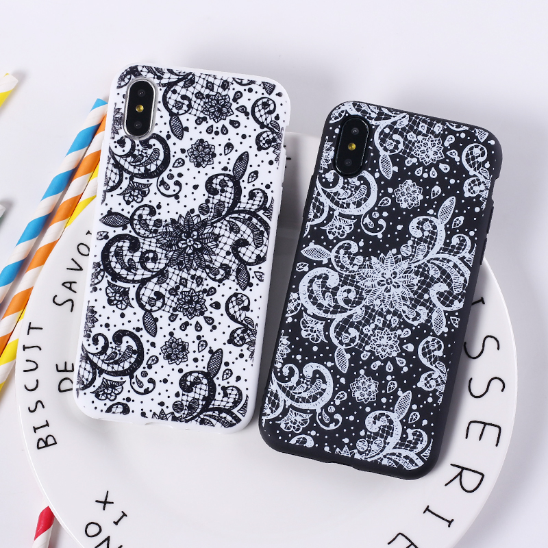 Lace Floral Paisley Henna Mandala Tribal Soft Silicon Printed Phone Case For iPhone 6 6S 5 5S 8 8Plus X 7 7Plus XS Max Fundas
