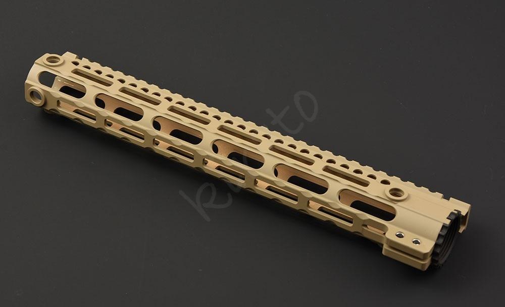 Tactique ar 15 20mm picatinny 12 pouces 15 pouces rail libre flotteur M-LOK handguard avec écharpe qd pivote adaptateur AEG
