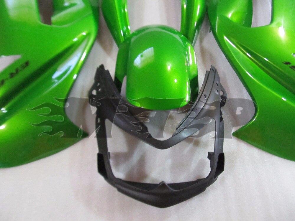 Kit de carénage moto ABS ER6F travail du corps pour Kawasaki Ninja 650R ER 6F 2006 2007 2008 ER 6F 06 07 08 couverture complète vert - 3