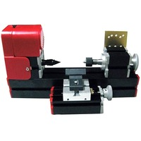 DIY Horizontal Tool All Metal 6 in 1 Mini Lathe Milling Drilling Wood Turning Jag Saw and Sanding Combined Machine