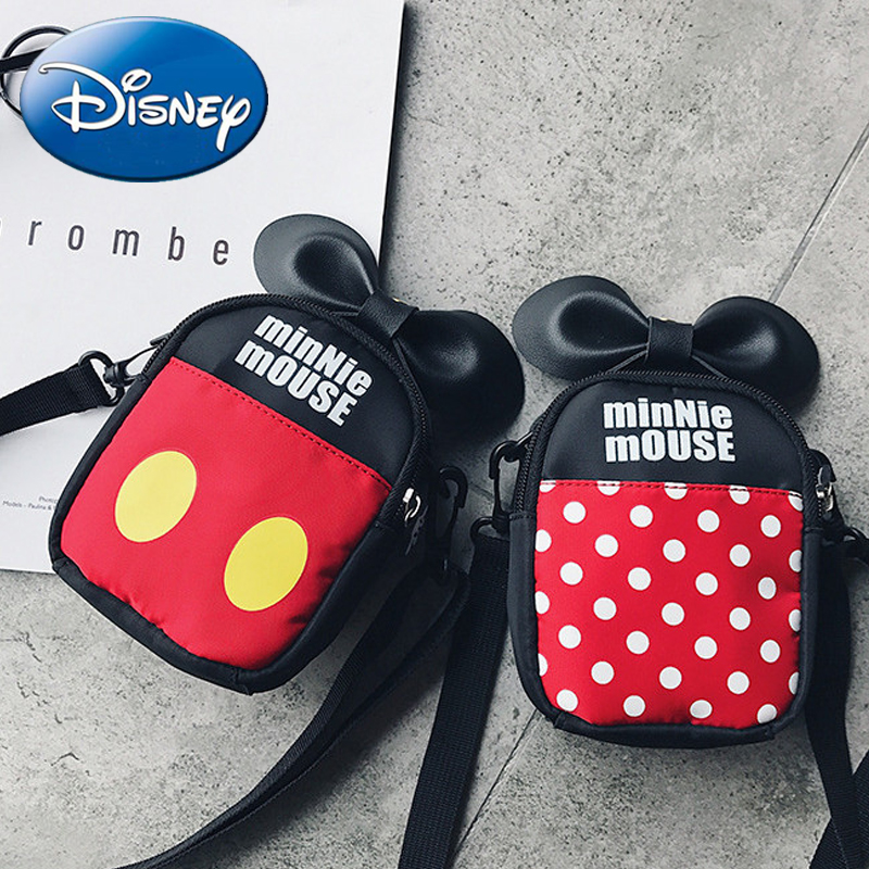 baa5ee97816 Disney Kids Mickey Minnie Mouse Girls Crossbody Diagonal School Bags 2018  New Cartoon Pu Skin Travel Children Cute Backpack Bag