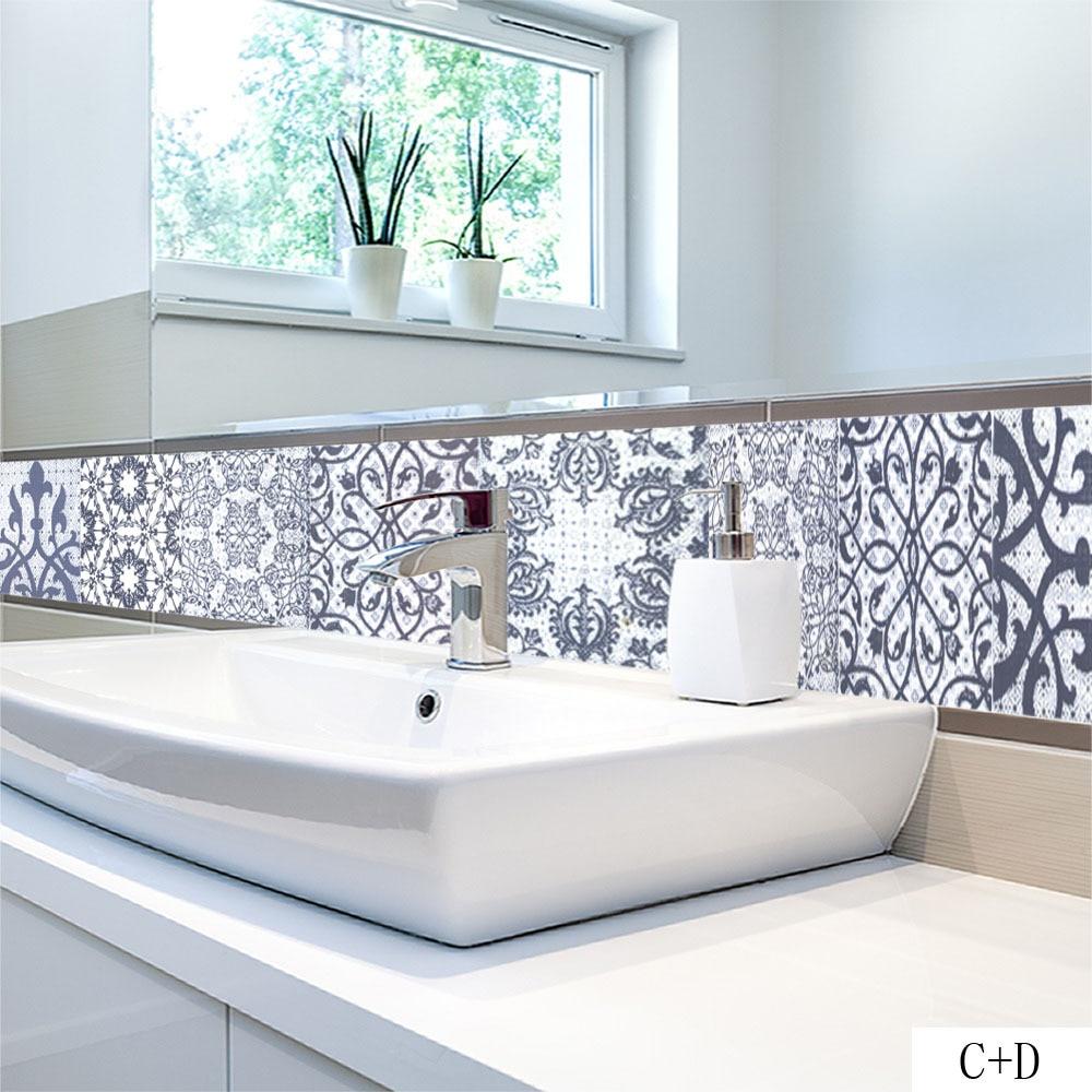 2018 New Arabic Style Vintage Tile Stickers Home Decor Kitchen ...