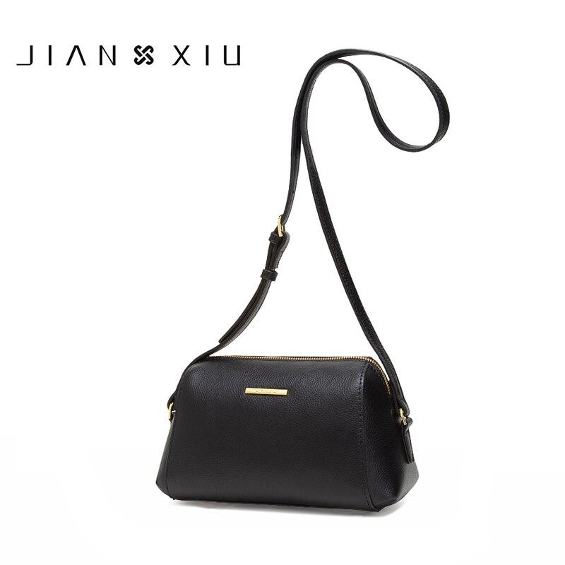 cbf6e167616e JIANXIU Брендовые женские сумки-мессенджеры высокого качества из воловьей  кожи через плечо, кожаная сумка 2019, модная женская маленькая сумка 3 .