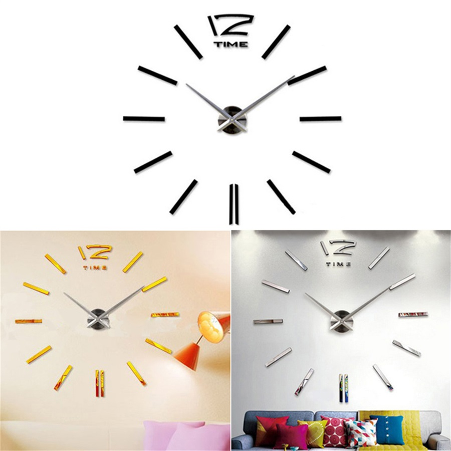 cool modern clocks promotionshop for promotional cool modern  -  d luxury diy wall clock home decor bell cool mirror stickers art clockfor home office decor relogio parede