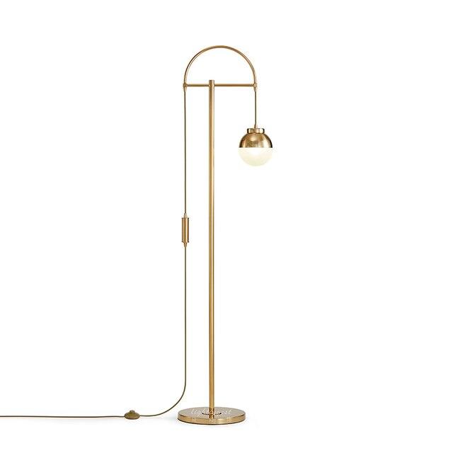 Us 270 45 62 Di Sconto Romantico Lampada Da Terra Per Soggiorno Lampada Da Terra Ad Arco Design Moderno Del Basamento Della Luce Oro Palla Di Vetro