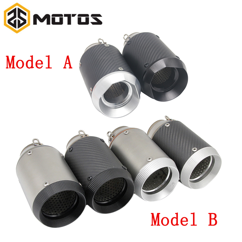 ZS MOTOS 51 mm Modified Motorcycle Akrapovic Exhaust Escape Moto Muffler Pipe MT09 TMAX Off Road Pit Dirt Bike Street Scooter blue warmth off road dirt pit bike protect motocross parts scooter bike protection hand motorcycle guantes moto luvas bike glove