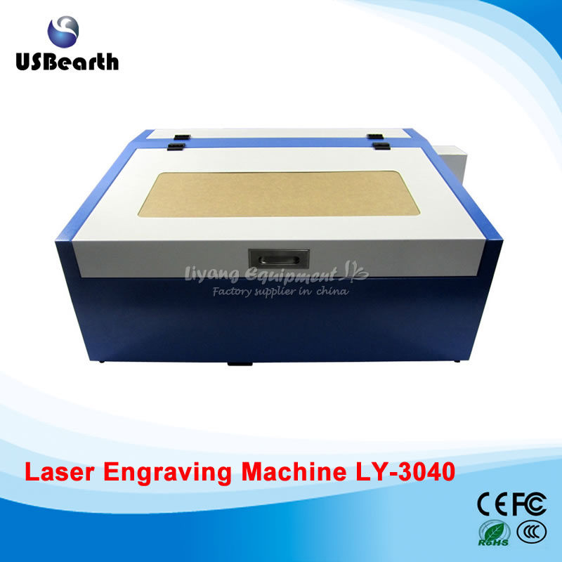 Newest LY 3040 CO2 Laser Engraving cutting machine with Rotary Axis 50W Laser Tube 220V/110V Super quality with all functions newest ly 4040 co2 laser engraving machine 50w laser tube laser cutting machine free tax to russia
