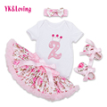 New Arrival Children Skirt Sets for Girl Body Pink Bodysuit with Ruffle Tutu Dress Infant Clothing Summer Seaside Holiday F5019