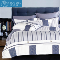 SIDANDA 100 Cotton Fabric Bedding Set 4 Pcs Bedding Set Pillow Duvet Covers Bed Sheet Tribute
