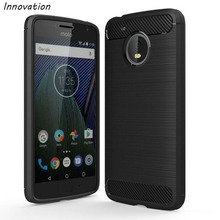 Innovation For Mororola Moto G5 Case Plus Cover Silicone Soft TPU Brushed Carbon Fiber Texture Phone G4 Play G3