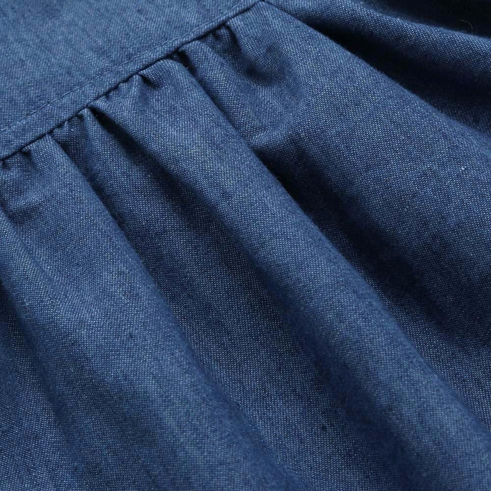 d90bbf7475a2 LONSANT New Summer Hot Fashion Newborn Toddler Infant Baby Girls Blue Dress  Solid Princess Denim ...
