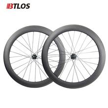 цена на Ultra-light btlos WRC-60 Carbon Wheels 700C 60mm Clincher 26mm Width special braking Powerway R13  Road Bike Wheelset